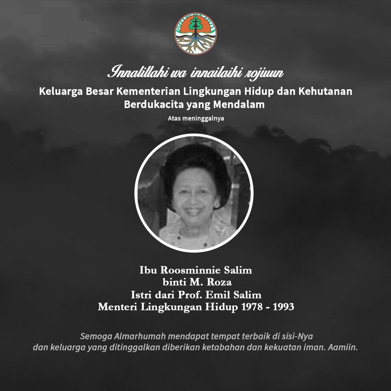 Ibu Roosminnie Salim binti M. Roza, istri dari Prof. Emil Salim